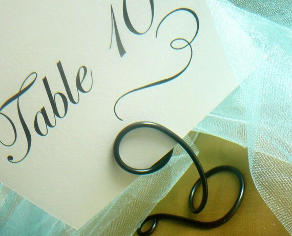 Black Metal Table Number Holders, Party Decor, 5pcs