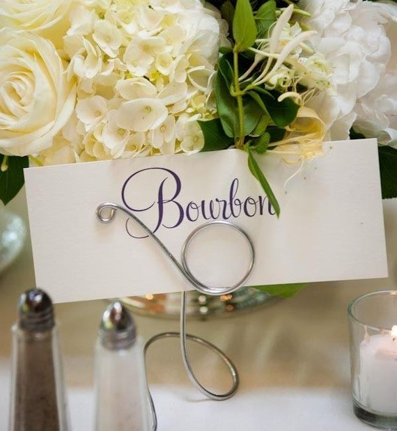 Wedding Silver Card Clip Table Name Holders, 8pcs, As Seen on Style Me Pretty