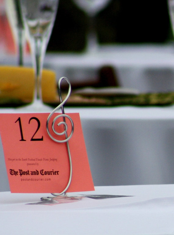 Table Number Stands, Treble Clef, 4, Tall