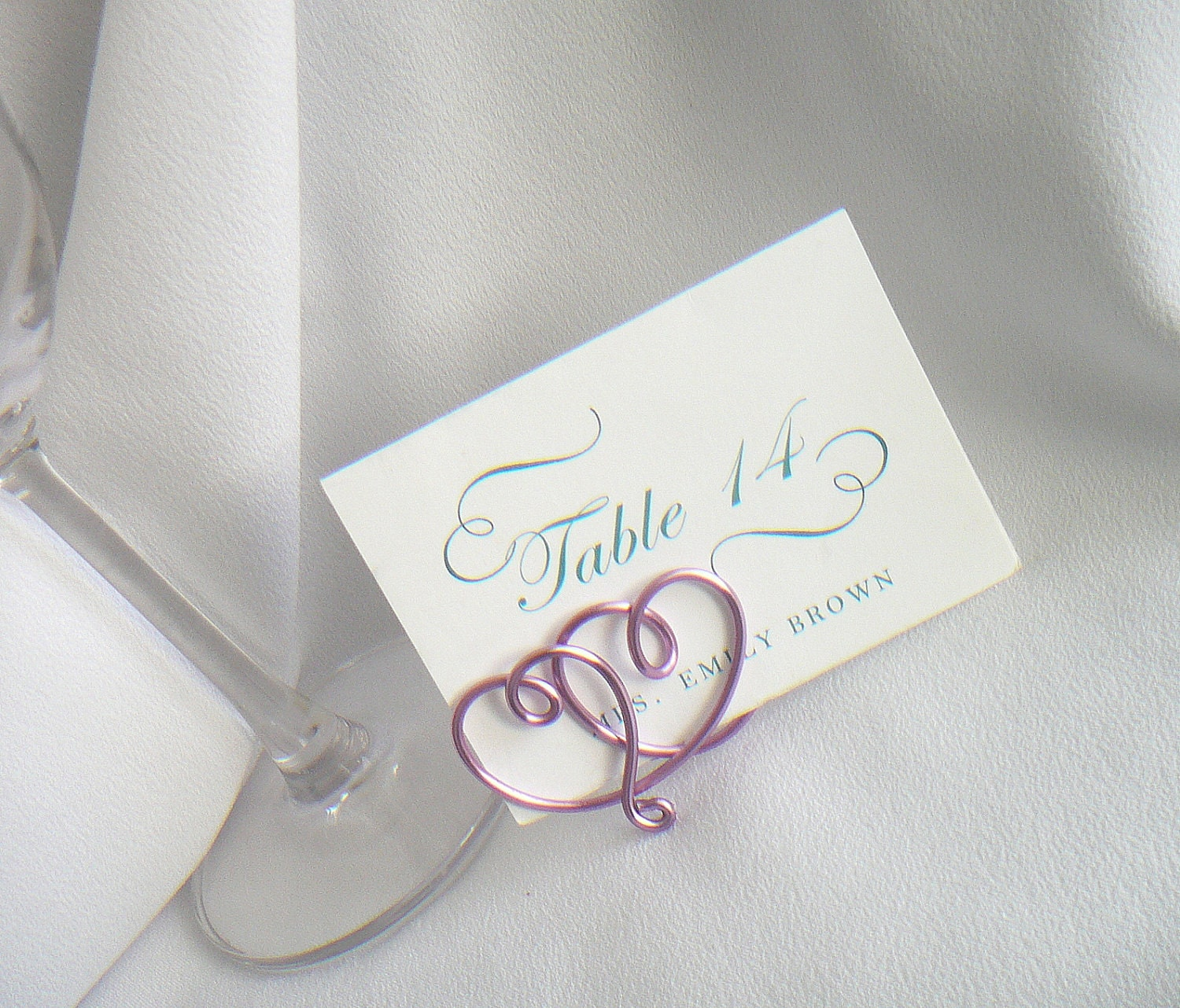 Wedding Place Card Holders Table Settings & By