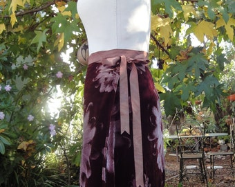Beautiful Velvet Wrap Skirt