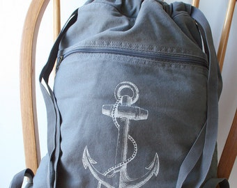 Anchor Backpack Laptop Bag Nautical