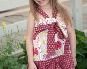 Double Ruffle Halter Dress, Girls sewing pattern, dress tutorial, easy dress, PDF sewing PATTERN, how to sew