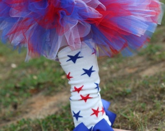 FREE  SHIPPING - Baby Girl Tutu for Memorial Day or 4th of July -- Red, White and Blue Tutu