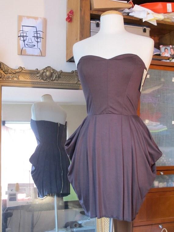 Women's Bubble Dress - Brown