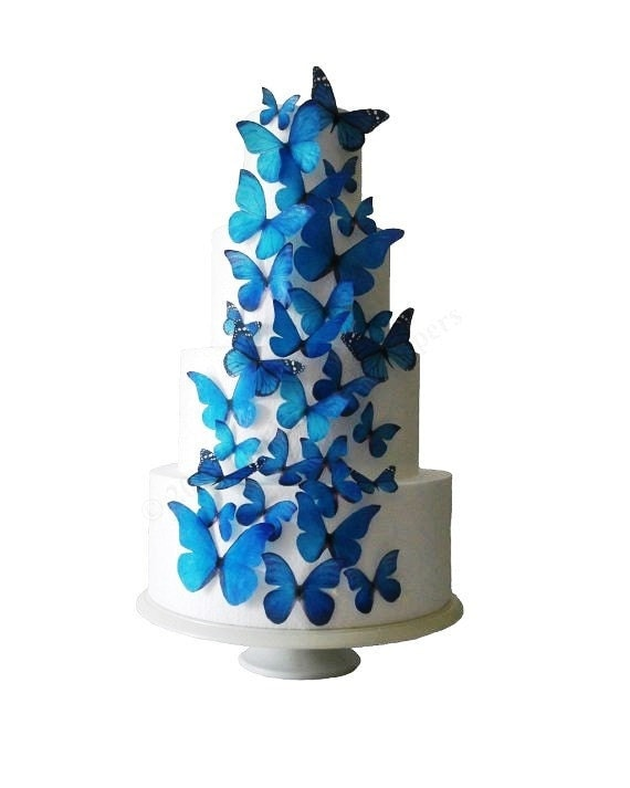 WEDDING CAKE Topper Winter Wedding - The Stella 30 Edible Butterflies - Wedding Cake Decorations, Cake Toppers