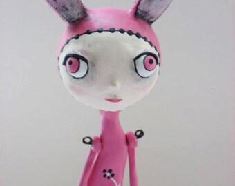 Bunny Art Doll - Spring Decor - Spring Bunny - Made to Order
