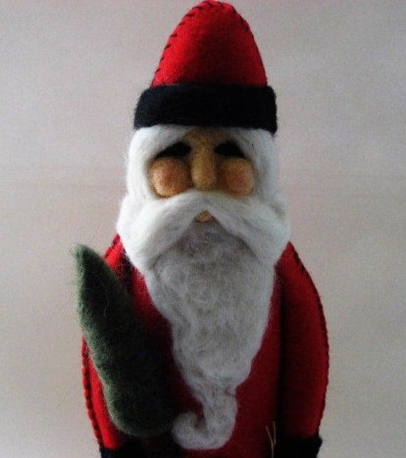 Needle Felted Santa  - Santa Art Doll - Christmas Decor - Santa Decor - MADE TO ORDER
