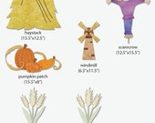 Autumn Elements Wall Sticker Pack for Farm Wall Mural in Boys Room, Girls Room, Baby Nursery (stk999)