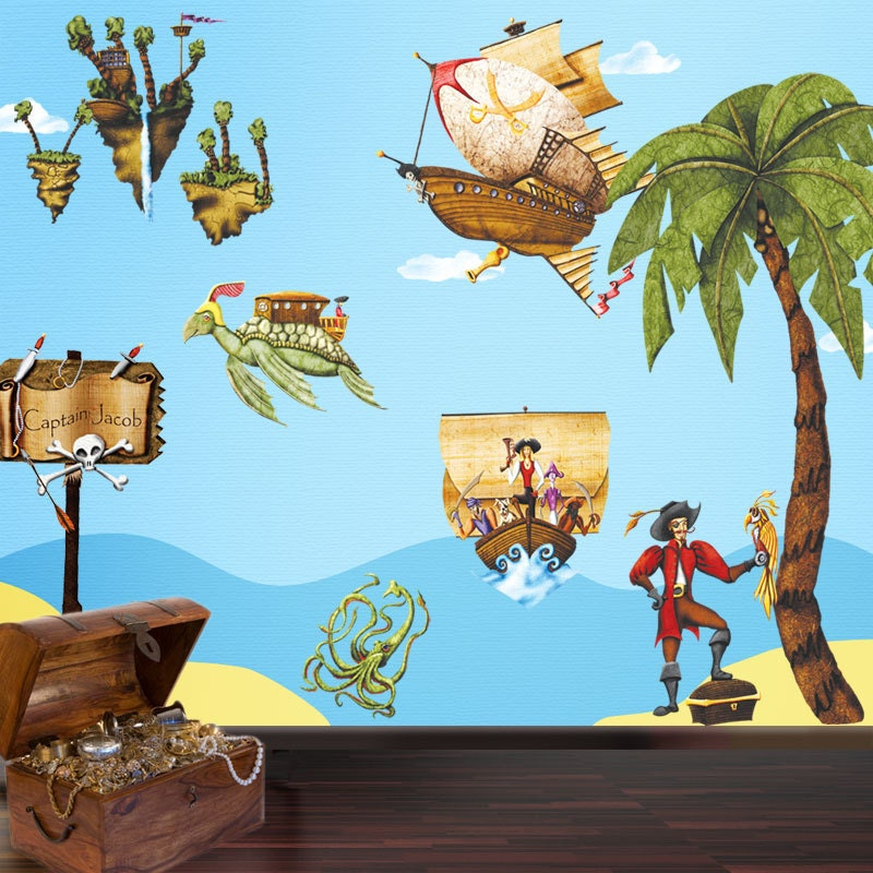pirate wall stickers decals for boys pirate by mywallstickers. Black Bedroom Furniture Sets. Home Design Ideas
