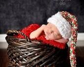 Christmas Elf  Hat Baby Photography Prop Sizes Preemie, Newborn, 0-3 months, 3-6 months