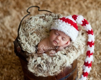 Christmas Elf  Hat Baby Photography Prop Sizes Preemie, Newborn, 0-3 months, 3-6 months