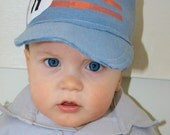 Personalized with Letter and Birthday Baby/Toddler Boy Baseball Cap, newborn-24 months