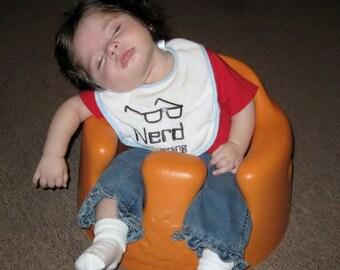 Nerd in Training Baby Bib
