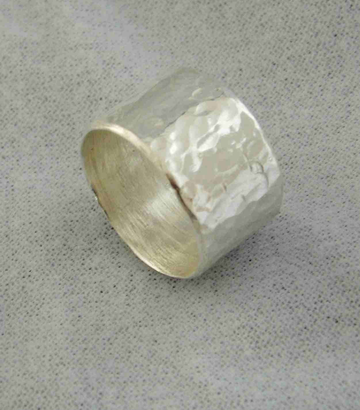 silver ring thick silver band chunky silver band by