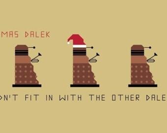 Doctor Who Bookmark Pattern - Christmas Dalek