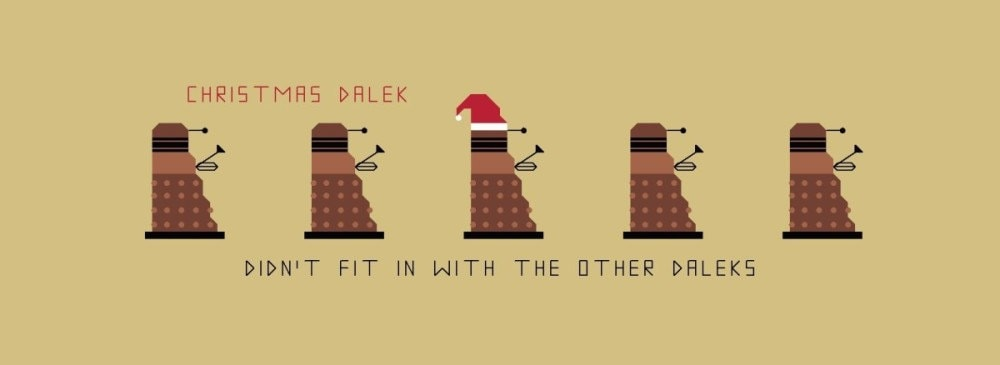 Doctor Who Bookmark Pattern Christmas Dalek