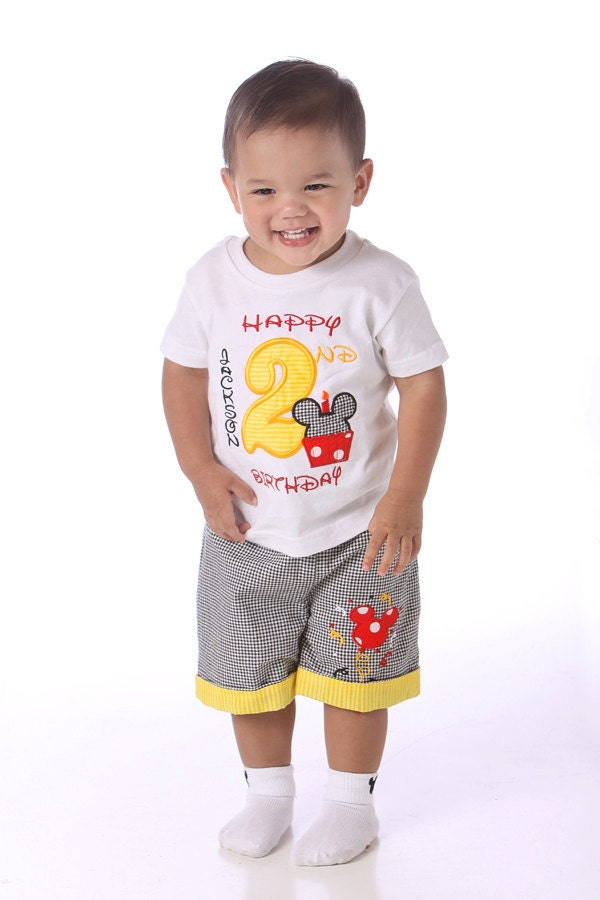 Mickey Mouse Birthday Shirt Personalized 6 Months To 4 Years