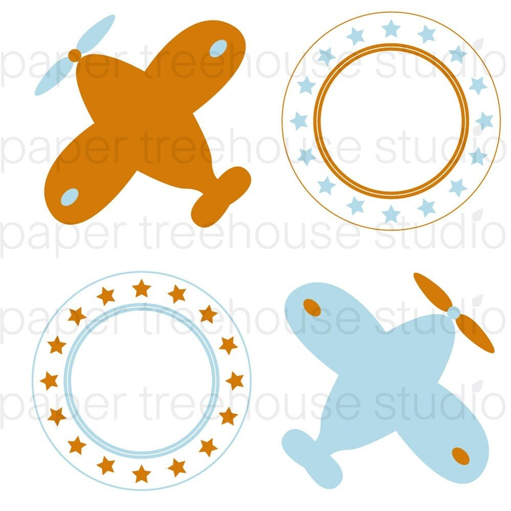 Vacation Airplane Clip Art Clip art set airplanes and