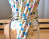 Confetti Dot 25 Paper Drinking Straws