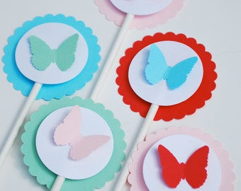 Butterfly Cupcake Toppers - Butterflies