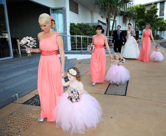 Items Similar To Flower Girl Tutu Dress, Wedding Tutu