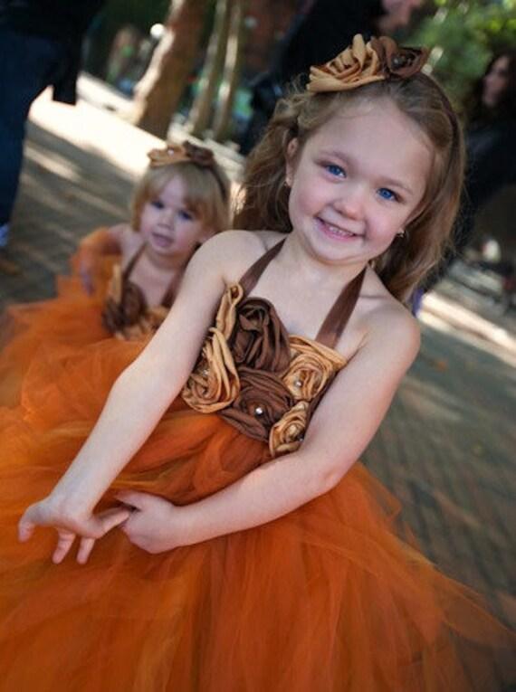 Fall Girls Dresses flowergirl tutu dress fall