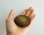 Wool Felt Brooch // Hand Embroidered // Shield // LoftFullOfGoodies - LoftFullOfGoodies
