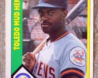 Vintage 1990 Minor League Baseball Card of Toledo Mud Hen's Phil Clark, International League, San Diego Padres, Gift for Him, Christmas