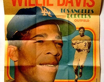 Vintage Topps Baseball posters from 1970, Collectibles, Willie Davis, Reggie Smith, Bert Campaneris, Tommie Agee, Gift for Him, Christmas