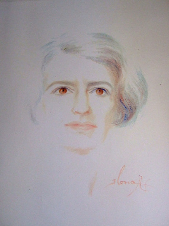 Official Portrait of Ayn Rand by Illona Royce Smithkin--Ayn Rand, Atlas Shrugged, OBJECTIVISM, Gift for Him, Gift for Her