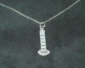 Gorgeous Geekery Graduated Cylinder Silver Necklace - Beaker, Chemistry, Laboratory