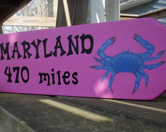 CUSTOM STATE SIGN, Hand Painted Custom Sign, Personalized State Sign, Wooden Sign, Directional Sign, Arrow, Outdoor Sign, Personalized Sign
