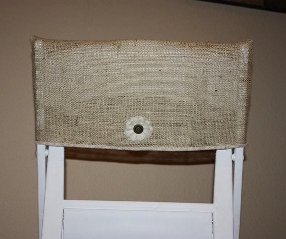 items similar to burlap wedding chair cover rustic