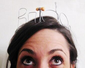 Bride Tiara for Bachelorette, Wire Headband Bride to Be Gift, Bridal Shower & Bachelorette Gift or Decoration, Naughty Version :) Mature