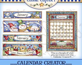 Calendar Creator Digital Art Collection