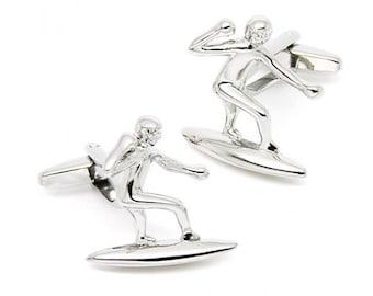 Surfer Cufflinks - Groomsmen Gift - Men's Jewelry - Gift Box Included