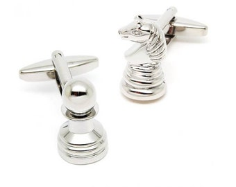 Chess Cufflinks - Groomsmen Gift - Men's Jewelry - Gift Box Included