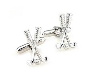 Golf Cufflinks - Groomsmen Gift - Men's Jewelry - Gift Box Included