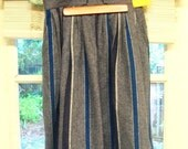 Vintage Recycled Wool A-Line Skirt