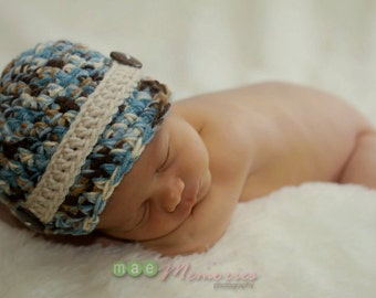 SALE Newborn Baby Boy Newsboy Photography Prop Newsie Beanie hat cap (ANY color - chart inside) available sizes newborn, 1-3mos, 3-6mos