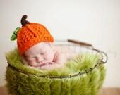 Newborn Baby pumpkin hat for fall photos - fall photography prop