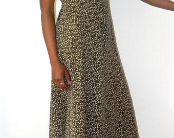 Vintage 80's Maxi Floral Dress size S