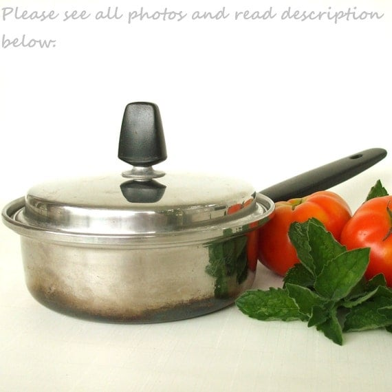 Regal Cookware Pot Pan Stainless Steel 3 Ply Vintage