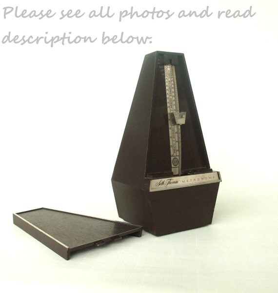 Wind Up Metronome Seth Thomas Vintage 1960s 1970s - Sold AS-IS