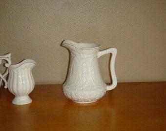 Vintage Ivory Porcelain Godinger Creamer Pitcher