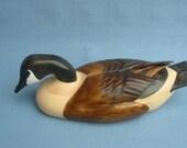 Hand carved Magnum Canada Goose Decoy Robert Kelly