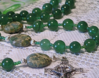 Catholic Rosary Sterling Silver Celtic