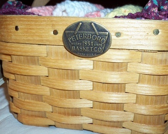 SALE SALE SALE  Peterboro Basket Co.vintage  basket reduced 20% was 30.00