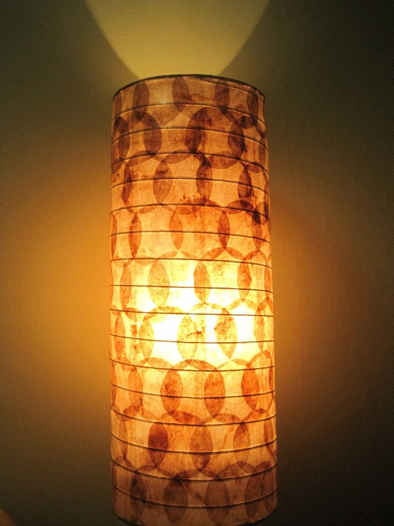 COFFEE FILTER ART - Sale - Table Lamp Table Light Paper Lamp Bedroom Lamp Beside Lamp Shade